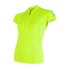 SENSOR CYKLO ENTRY dámský dres kr.ruk. žlutá reflex