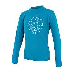 SENSOR MERINO DF CLUB dětské triko dl.rukáv modrá