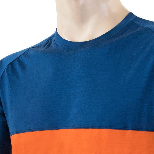 SENSOR MERINO AIR PT pánské triko kr.rukáv modrá/oranžová