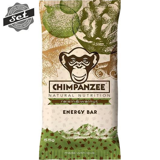 CHIMPANZEE  ENERGY BAR Raisin - Walnut 55g - SET 4+1 (5x55g)