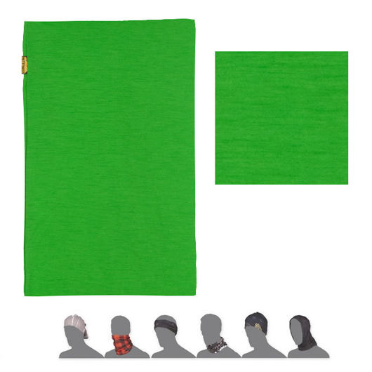 SENSOR TUBE MERINO WOOL šátek multifunkční sv. zelená