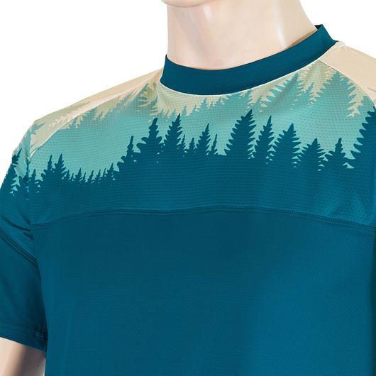 SENSOR COOLMAX IMPRESS pánské triko kr.rukáv safír/trees