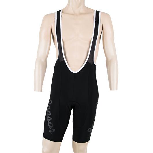 SENSOR CYKLO CLASSIC pánské kalhoty krátké se šlemi černá