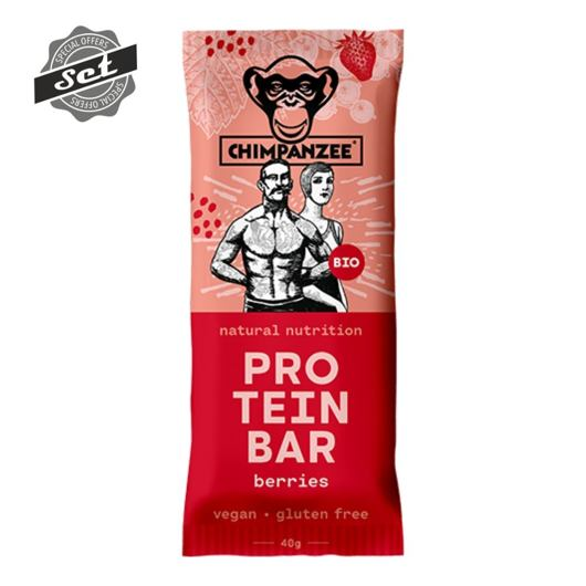 CHIMPANZEE  BIO PROTEIN BAR Berries 40g, CZ-BIO-002 - 4+1 SET (5x40g)