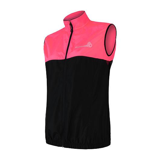SENSOR NEON dámská vesta černá/reflex růžová