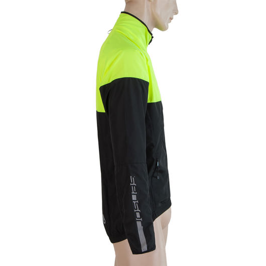 SENSOR NEON pánská bunda černá/reflex žlutá